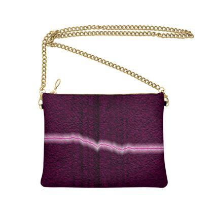 Crossbody Bag With Chain - Volatility Magenta