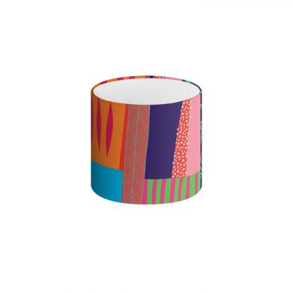 Memphis Drum Table Lamp Shade by Caroline Rees
