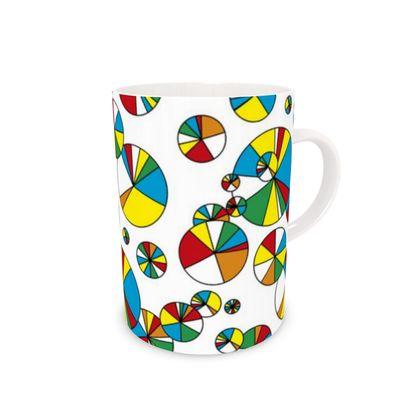 Pie chart inspired bone china mug