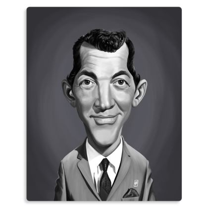 Dean Martin Celebrity Caricature Metal Print