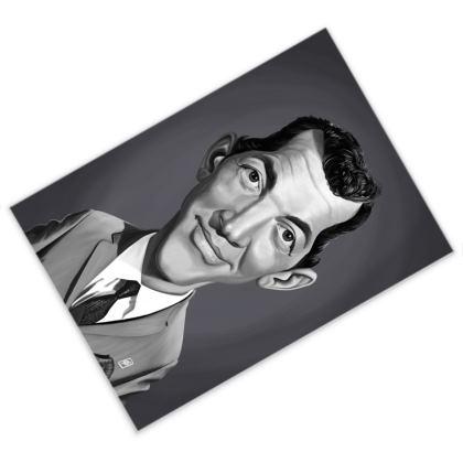 Dean Martin Celebrity Caricature Postcard