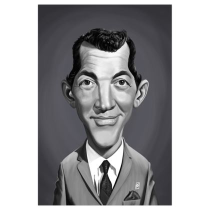 Dean Martin Celebrity Caricature Art Print