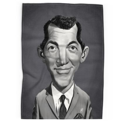 Dean Martin Celebrity Caricature Tea Towels