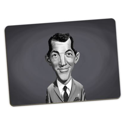 Dean Martin Celebrity Caricature Large Placemats