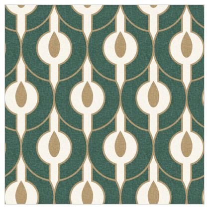 Power of nature - Fabric Printing - green, geometric, abstract, natural design