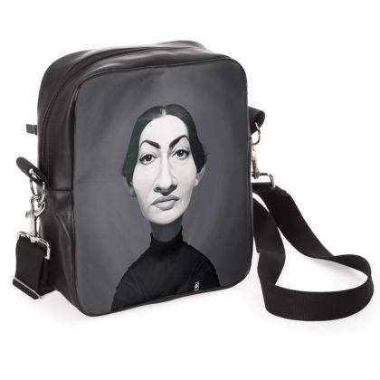 Maria Callas Celebrity Caricature Shoulder Bag