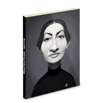 Maria Callas Celebrity Caricature Pocket Note Book