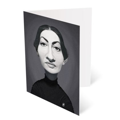 Maria Callas Celebrity Caricature Occasions Cards