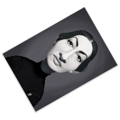 Maria Callas Celebrity Caricature Postcard