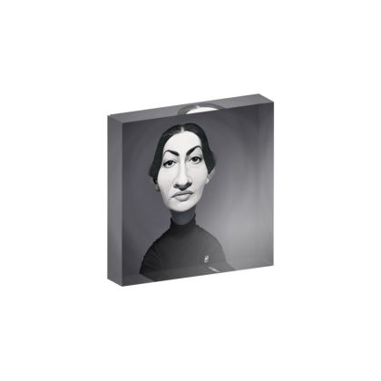 Maria Callas Celebrity Caricature Acrylic Photo Blocks