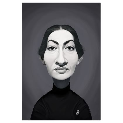 Maria Callas Celebrity Caricature Art Print