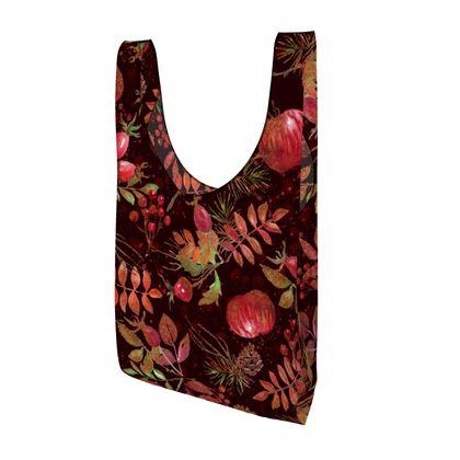 Autumn Garden - Parachute Shopping Bag - orchard, watercolor gift, natural, picturesque, apples, fall