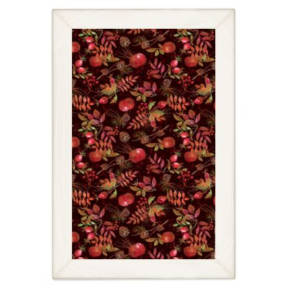 Autumn Garden - Quilts - orchard, watercolor gift, natural, picturesque, apples, floral