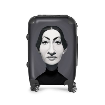 Maria Callas Celebrity Caricature Suitcase