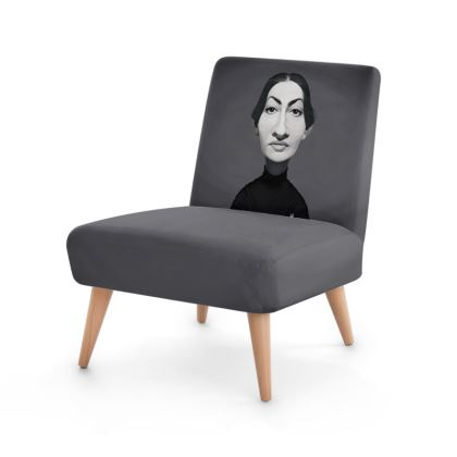 Maria Callas Celebrity Caricature Occasional Chair