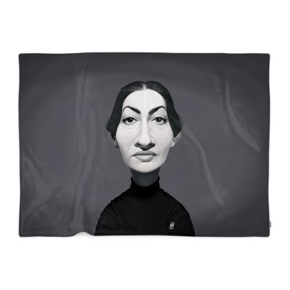 Maria Callas Celebrity Caricature Blanket