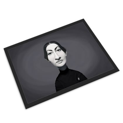 Maria Callas Celebrity Caricature Door Mat