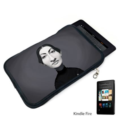 Maria Callas Celebrity Caricature Kindle Case
