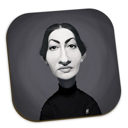 Maria Callas Celebrity Caricature Coasters