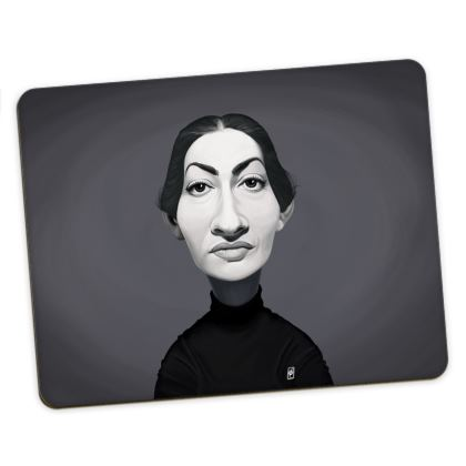 Maria Callas Celebrity Caricature Placemats