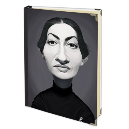 Maria Callas Celebrity Caricature Journals