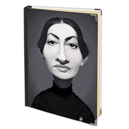 Maria Callas Celebrity Caricature 2018 Deluxe Diary