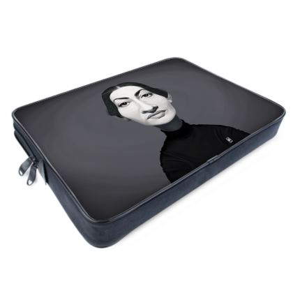 Maria Callas Celebrity Caricature Laptop Bags