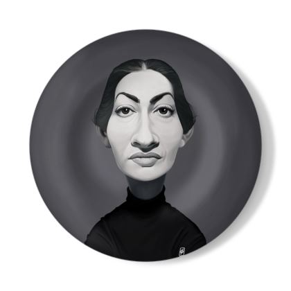 Maria Callas Celebrity Caricature Decorative Plate