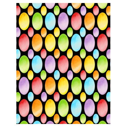 Rainbow Polka Dot Trays