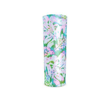 Hi Ball Glass, Turquoise, Pink, Leaf  Oaks  Marble