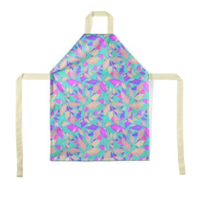 Aprons, Turquoise, Pink, Leaf  Cathedral Leaves  Turquoise Sea