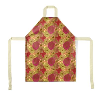 Aprons, Red, Yellow, Flower,  Anemone  Golden