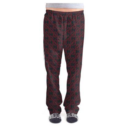 Autumnal Forest Pattern Burning Charcoal Ladies Pyjama Bottoms