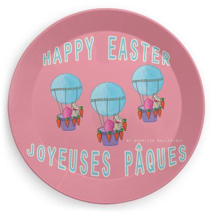 """Party Plate """"Joyeuses Pâques"""""""