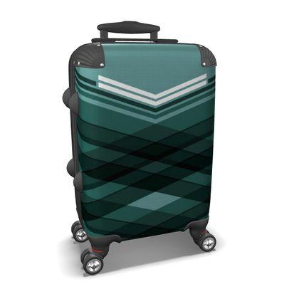 Suitcase Blue Stripes