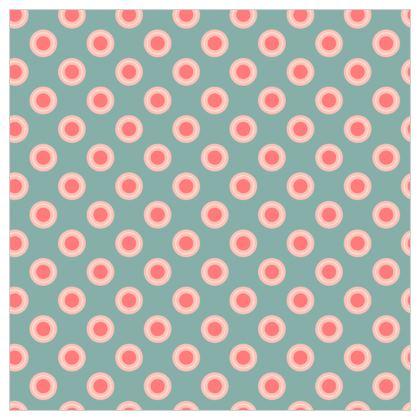 Strawberry meadow - Fabric Printing - Vintage polka dots, pink green kids baby, children stuff