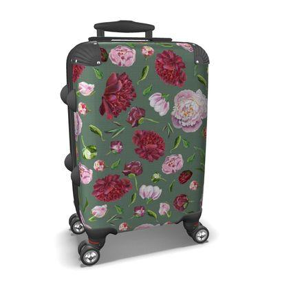 vintage flowers suitcase