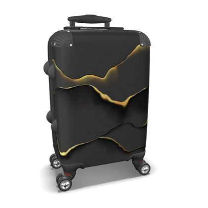 modern abstract black and gold suitcase