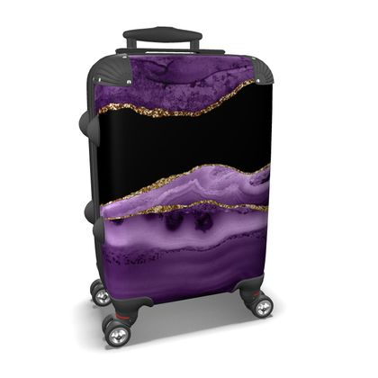 modern crystal marble suitcase
