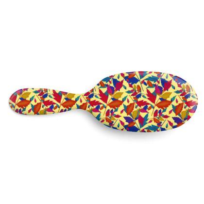 Hairbrush, Orange, Turquoise, Leaf  Diamond Leaves  Cracker