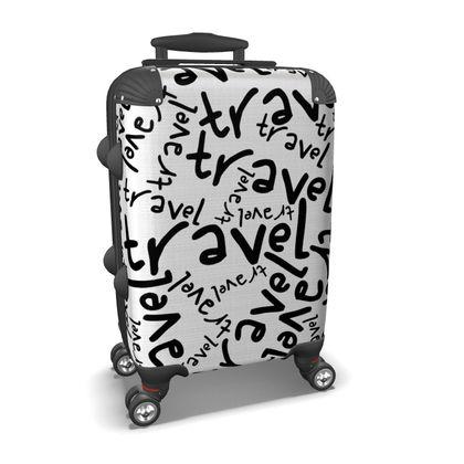 Travel typo suitcase
