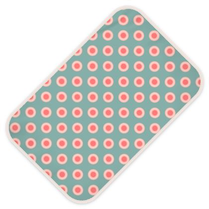 Strawberry meadow - Baby Changing Mats - kids turquoise pink green baby, children polka dots