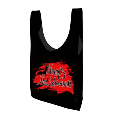 Happy Halloween - Parachute Shopping Bag - Scary gift bloody lettering, bat, black and red