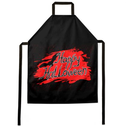 Happy Halloween - Aprons - Scary gift bloody lettering, bat, black and red