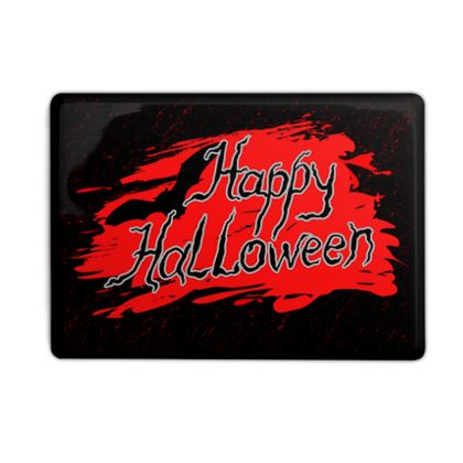 Happy Halloween - Photo Fridge Magnet - Scary gift bloody lettering, bat, black and red