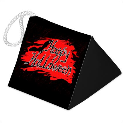 Happy Halloween - Door Stopper - Scary gift bloody lettering, bat, black and red