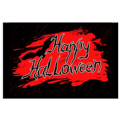Happy Halloween - Flags - Scary gift bloody lettering, bat, black and red
