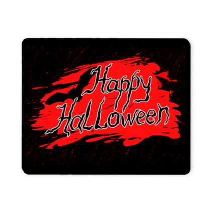 Happy Halloween - Mousepad - Scary gift bloody lettering, bat, black and red