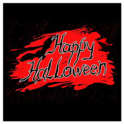 Happy Halloween - Stickers Sheets - Scary gift bloody lettering, bat, black and red