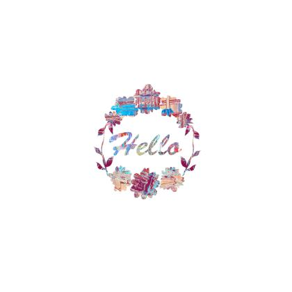 Clutch Bag with 'Hello' Quote